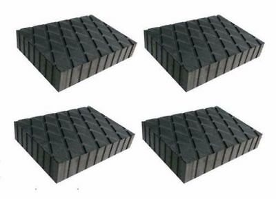 "Set of 4 Solid Rubber Auto Lift Jack Block Spacer Pad 6-3/8 x 4-3/4"" x 2"" 3000lb"