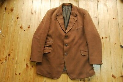 Vintage Brown Whipcord Hacking Hunting Riding Jacket Zacharias and Co 42/43