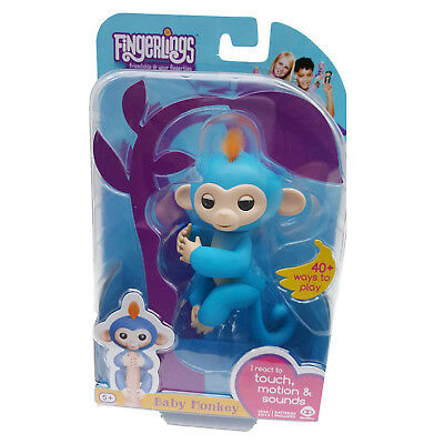 New Genuine Blue Fingerlings Baby Pet Monkey By Wowwee