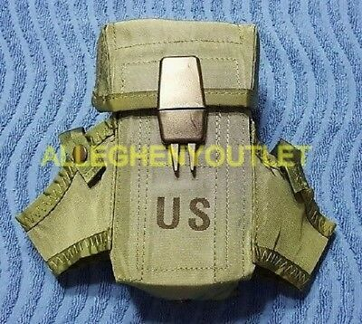 US Military Army OD Ammo Pouch Case Alice Mag Pouch 3 Magazines EXCELLENT