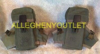 Lot of 2 US Military Army OD Small Arms Ammo Case Pouch LC1 3 Mag Magazine EXC