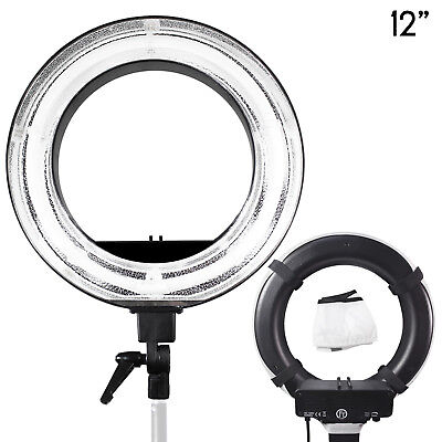 """12"""" Photography Studio Video Continuous Lighting Ring Light with Diffuser Cover"""