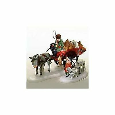 Dept 56 Dickens Snow Village  Bringing Fleeces to the Mill Set of 2 58190