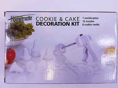 Homemate Cookie and Cake Decoration Kit - cookie press nozzles molds - NEW!