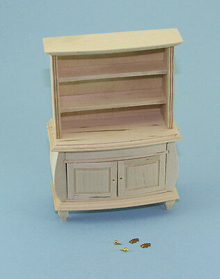 NICE Dollhouse Miniature Natural Wood Hutch with Hardware PAINTABLE #WCBU205