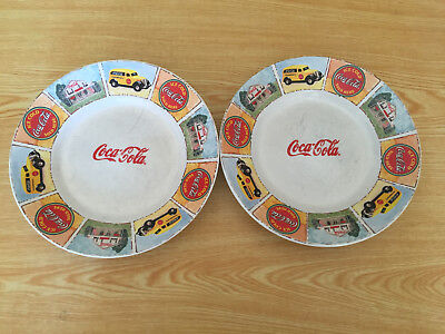 """Lot Of 2 Coca Cola 9"""" Plates by Gibson - Good Ole Days"""
