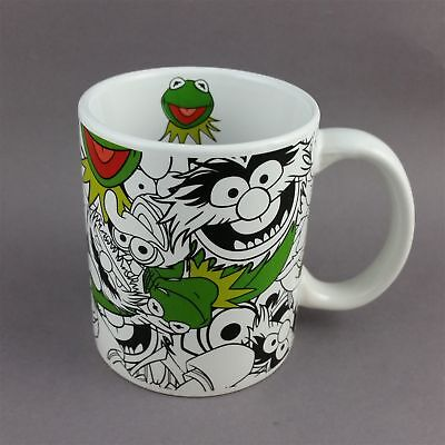 Disney Muppets Kermit Mug Cup B&W Collage with Green Frog