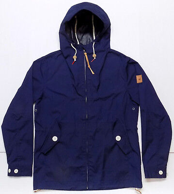 Penfield Hudson Wax Cloth Navy Blue Hooded Jacket Mens Size Medium
