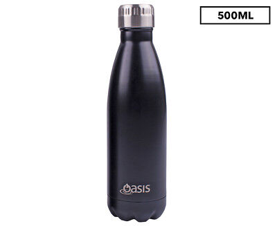 Oasis Double Wall Insulated Stainless Steel Drink Bottle 500mL - Black