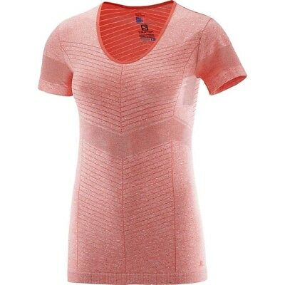 Salomon Elevate Seamless Short Sleeve Tee Womens - Hot Coral