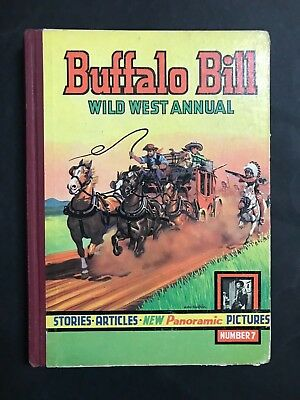 BUFFALO BILL WILD WEST ANNUAL #7 FROM 1950's, 141 PAGES