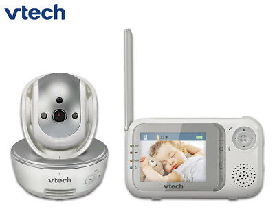 VTech BM3500 Pan & Tilt Safe & Sound Video/Audio Baby Monitor - Silver/White