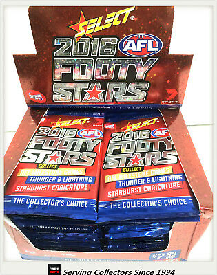 2016 Select AFL Footy Stars Trading Cards Sealed Loose Packs Unit of 4--packs