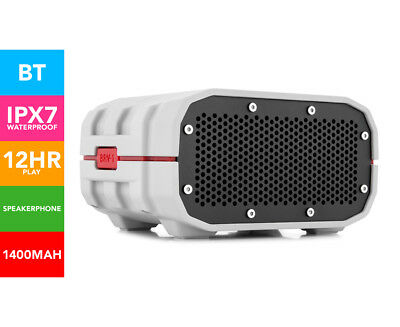 Braven BRV-1 HD Wireless Waterproof Speaker - Grey/Red