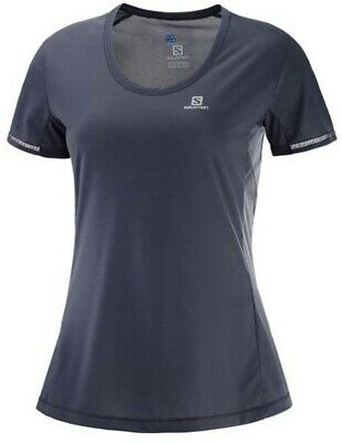 Salomon Agile Womens Short Sleeve Running Tee S18 - Graphite