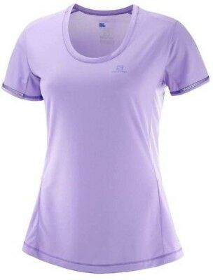 Salomon Agile Womens Short Sleeve Running Tee S18 - Bougainvillea