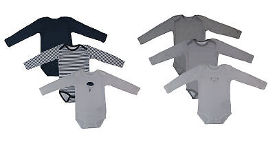 Name It 3er SET BODY Baby Kinder Jungen Bodys Einteiler Langarm Unterwäsche
