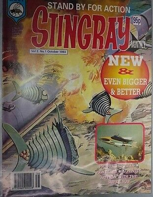 Stingray - The Comic. Vol 2 No.1.October 1993. ITC. New & Even Bigger & Better