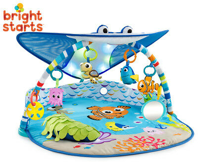 Bright Starts Mr Ray Ocean Lights Baby/Infant Playgym Activity Gym Floor Mat - F