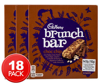 3 x Cadbury Brunch Bar Choc Chip 6pk