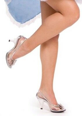 aea4fdd56ff Clear Glass Slippers Cinderella Disney Wedding Theme Costume Shoes Heels 6  7 8 9