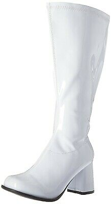 White Go Go Dancer 60s Mod 70s Hippie Knee High Costume Boots Womans size 7 8 9