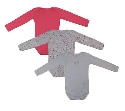 Name It Set of 3 Body Baby Children Girls Body One Piece Long Sleeved Underwear