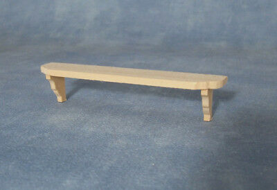 NICE Dollhouse Miniature Natural Wood Long Wall Shelf NEW #SDIY635