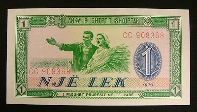 Albanian Nje Lek / 1 Lek 1976 Series===UN Circulated Note----free ship