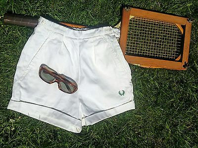 RARE Vintage 1940s 50's Fred Perry Sanforized Tennis Beach Shorts.SIze 6 Small.