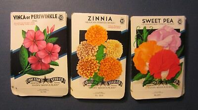 Wholesale Lot of 75 Old 1950's Vintage - FLOWER - SEED PACKETS - 310D - EMPTY