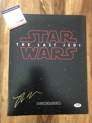 Rian Johnson Star Wars The Last Jedi  Signed 11x14 Autographed Photo PSA/DNA COA