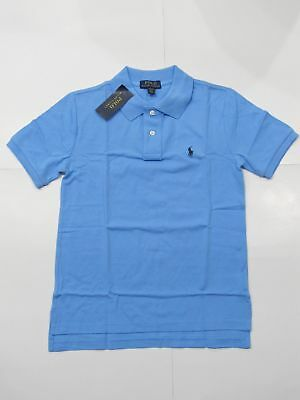 New with tag NWT Boys Ralph Lauren Chatham Blue Short Sleeve Polo Shirt M L XL