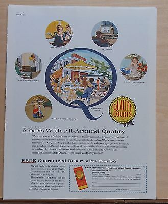 1961 magazine ad for Quality Court motels - Surround yourself with Quality