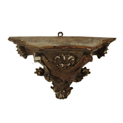 Wooden Lacquered Gilded Shelf Manufactured in Italy 18th Century