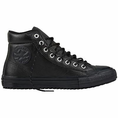 dd0b2575403a ... purchase converse chuck taylor all star boot pc hi black mens leather  high top trainers 6a26e