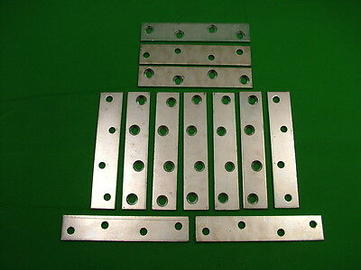 """Mending plate strap 100x19.75mm (4"""") straight fixing bracket,pack 12 zinc plated"""