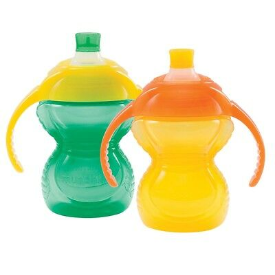 Munchkin Bite Proof Trainer Cup, 2-Pack - Green/Yellow