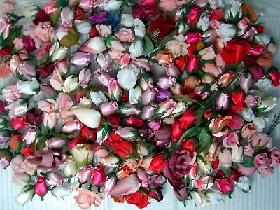 Huge lot of loose silk flowers a tiny silk satin rosebuds huge lot of loose silk flowers a tiny silk satin rosebuds collection 43 mightylinksfo Gallery