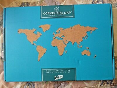 Corkboard world map cork board with pins unused free uk pp corkboard world map cork board with pins unused free uk pp gumiabroncs Image collections