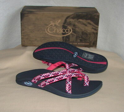 c7a3e1948a4f CHACO TEMPEST CLOUD CUSHIONED Sandals Women s 8 NEW Oragami Berry