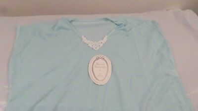 NIP Vintage Avon Private Treasures Aqua Nightgown Sleep ware OSFM