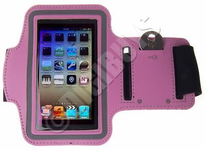Pink A-Sports Adjustable ARMBAND key holder for iPod Touch 5th 5G 5 Gen UK