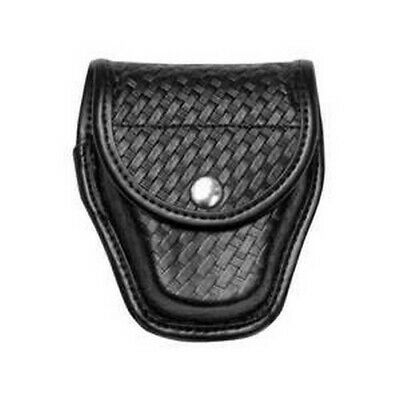 Bianchi Black 7917 Basketweave Accumold Elite Doubled Handcuff Cuff Case 22178
