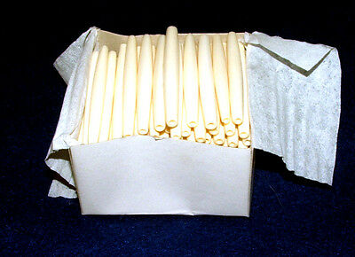 """Bone Hairpipe Beads 2.5"""" White Box of 100 Native American Jewelry or Crafts"""