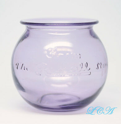 BEAUTIFUL old REXALL Drug Store LEECH or FISH BOWL antique SUN COLOR PURPLE SCA