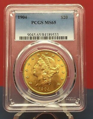 1904 $20.00 Gold Liberty Double Eagle Pcgs Ms 65