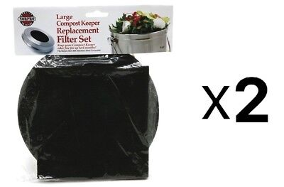 Norpro REPLACEMENT FILTER for Standard Compost Pail/Keeper 2 Piece Set (2-Pack)