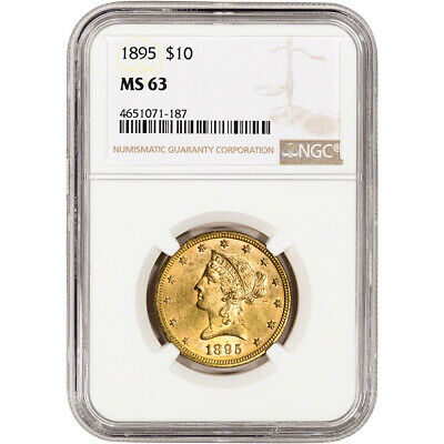US Gold $10 Liberty Head Eagle - NGC MS63 - Random Date