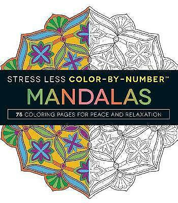 Stress Less Color-By-Number Mandalas, Adams Media